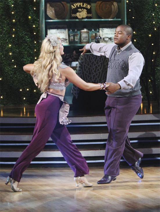 Kyle Massey and Lacey Schwimmer perform on 'Dancing With the Stars,' Monday, Oct. 4, 2010. The judges gave the couple 23 p