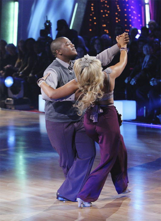 "<div class=""meta image-caption""><div class=""origin-logo origin-image ""><span></span></div><span class=""caption-text"">Kyle Massey and Lacey Schwimmer perform on 'Dancing With the Stars,' Monday, Oct. 4, 2010. The judges gave the couple 23 points out of 30. (ABC Photo/ Adam Larkey)</span></div>"