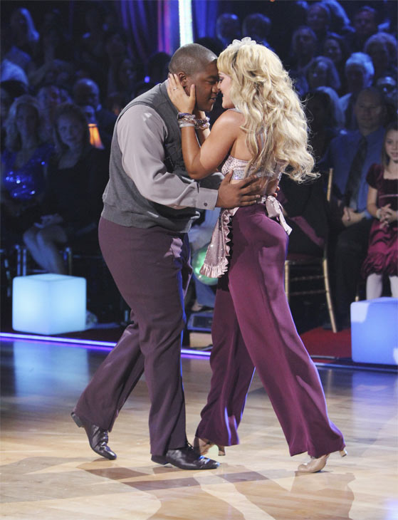 "<div class=""meta ""><span class=""caption-text "">Kyle Massey and Lacey Schwimmer perform on 'Dancing With the Stars,' Monday, Oct. 4, 2010. The judges gave the couple 23 points out of 30. (ABC Photo/ Adam Larkey)</span></div>"
