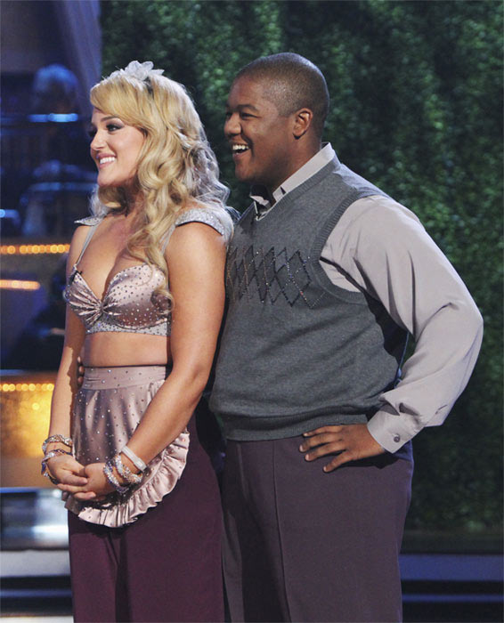 Kyle Massey and Lacey Schwimmer perform on 'Dancing With the Stars,' Monday, Oct. 4, 2010. The judges gave the couple 23 points out of