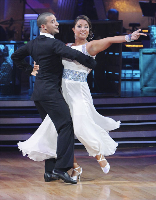 Bristol Palin and Mark Ballas perform on 'Dancing With the Stars,' Monday, Oct. 4, 2010. The judges gave the couple 19 points out of 30.