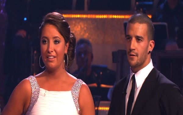 Bristol Palin and Mark Ballas perform on &#39;Dancing With the Stars,&#39; Monday, Oct. 4, 2010. The judges gave the couple 19 points out of 30. <span class=meta>(KABC Photo)</span>