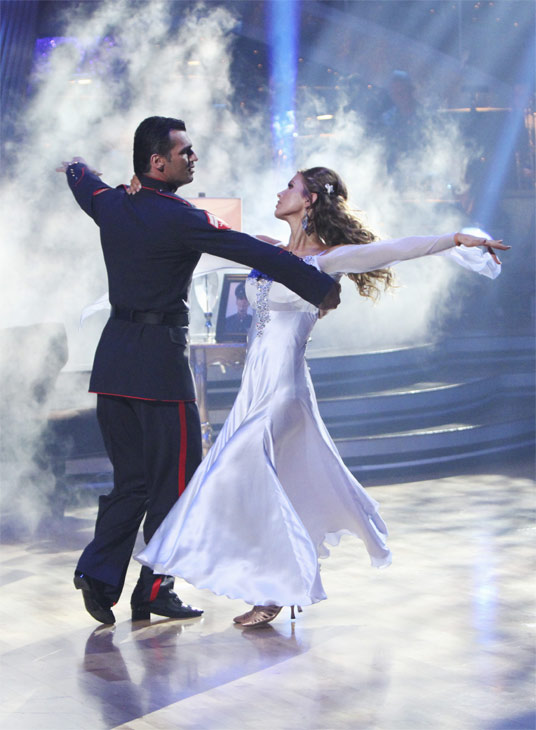 Audrina Patridge and Tony Dovolani perform on 'Dancing With the Stars,' Monday, Oct. 4, 2010. The judges gave the couple 26 points
