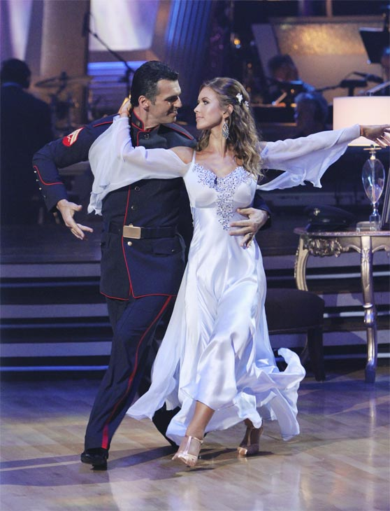 Audrina Patridge and Tony Dovolani perform on 'Dancing With the Stars,' Monday, Oct. 4, 2010. The judges gave the couple 26 points out of 30.