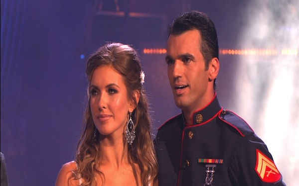 Audrina Patridge and Tony Dovolani perform on 'Dancing
