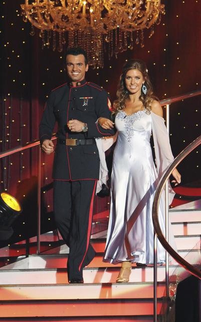 Audrina Patridge and Tony Dovolani on 'Dancing With the Stars,' Monday, Oct. 4, 2010. The judges gave the couple 26 points out of 30.