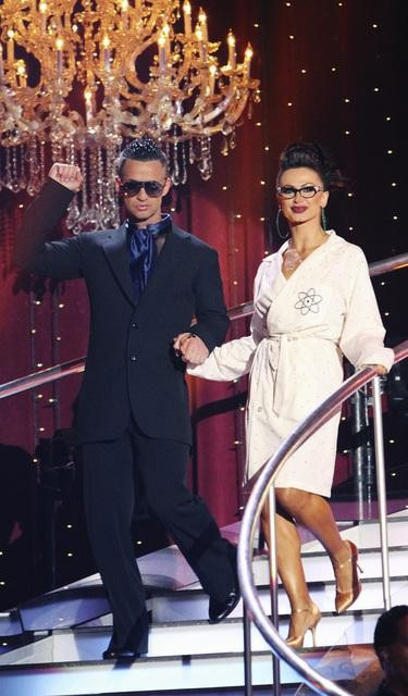 Mike 'The Situation' Sorrentino and Karina Smirnoff perform on 'Dancing With the Stars,' Monday, Oct. 4, 2010. The judges gave the couple 20 points