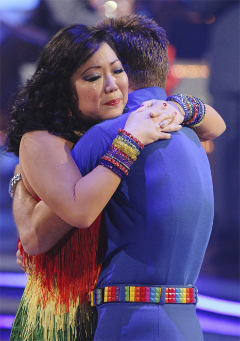 "<div class=""meta image-caption""><div class=""origin-logo origin-image ""><span></span></div><span class=""caption-text"">Margaret Cho and Louis van Amstel react to being eliminated on 'Dancing With the Stars: The Results Show,' Tuesday, Oct. 5, 2010. (ABC Photo/ Adam Larkey)</span></div>"