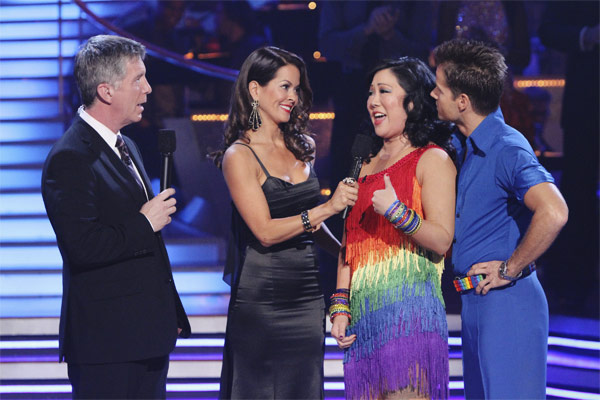 Margaret Cho and Louis van Amstel react to being...