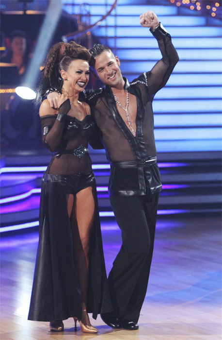 Mike 'The Situation' Sorrentino and Karina Smirnoff entertain the audience with an encore performance on 'Dancing With the Stars: The Results Show,' Tuesday, Oct. 5, 2010.