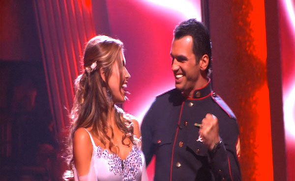 Audrina Patridge and Tony Dovolani react to being safe on 'Dancing With the Stars: The Results Show,' Tuesday, Oct. 5, 2010. The judges gave the couple 26 points out of 30.