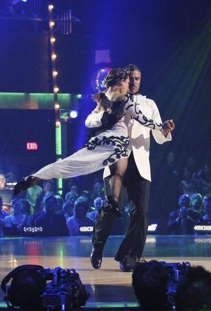 "<div class=""meta ""><span class=""caption-text "">Rick Fox and Cheryl Burke perform on 'Dancing With the Stars,' Monday, Oct. 11, 2010. The judges gave the couple 39 points out of 60. (ABC/Adam Larkey)</span></div>"