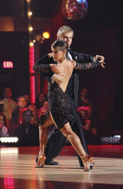 "<div class=""meta image-caption""><div class=""origin-logo origin-image ""><span></span></div><span class=""caption-text"">Jennifer Grey and Derek Hough perform on 'Dancing With the Stars,' Monday, Oct. 11, 2010. The judges gave the couple 56 points out of 60. (ABC/Adam Larkey)</span></div>"