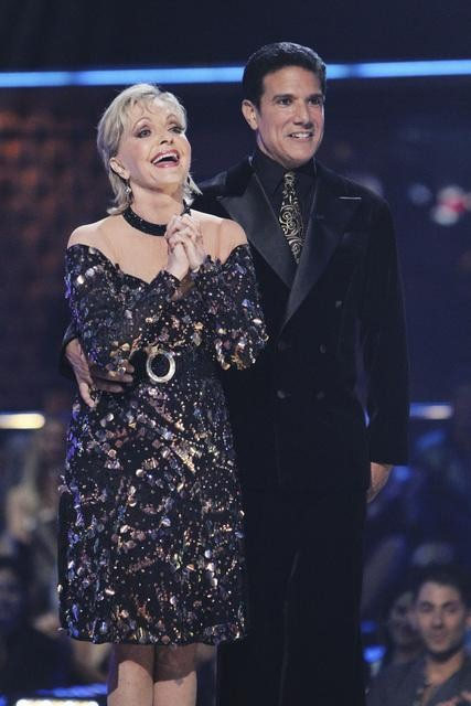 Florence Henderson and Corky Ballas perform on &#39;Dancing With the Stars,&#39; Monday, Oct. 11, 2010. The judges gave the couple 35 points out of 60. <span class=meta>(KABC Photo)</span>
