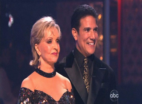 "<div class=""meta ""><span class=""caption-text "">Florence Henderson and Corky Ballas perform on 'Dancing With the Stars,' Monday, Oct. 11, 2010. The judges gave the couple 35 points out of 60. (KABC Photo)</span></div>"