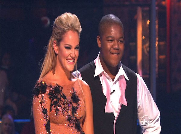 Kyle Massey and Lacey Schwimmer perform on &#39;Dancing With the Stars,&#39; Monday, Oct. 11, 2010. The judges gave the couple 40 points out of 60. <span class=meta>(KABC Photo)</span>