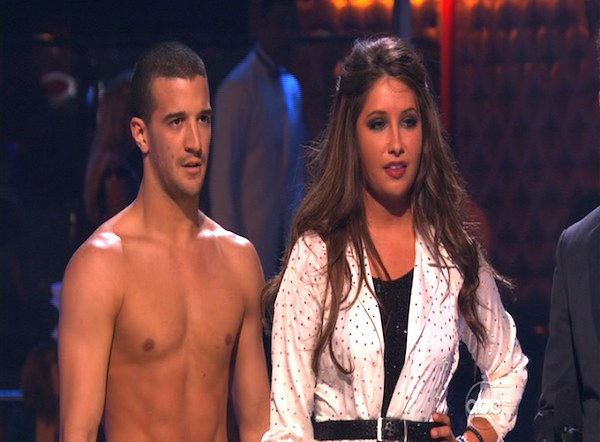 "<div class=""meta ""><span class=""caption-text "">Bristol Palin and Mark Ballas perform on 'Dancing With the Stars,' Monday, Oct. 11, 2010. The judges gave the couple 32 points out of 60. (KABC Photo)</span></div>"