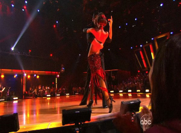 Audrina Patridge and Tony Dovolani perform on &#39;Dancing With the Stars,&#39; Monday, Oct. 11, 2010. The judges gave the couple 46 points out of 60. <span class=meta>(KABC Photo)</span>