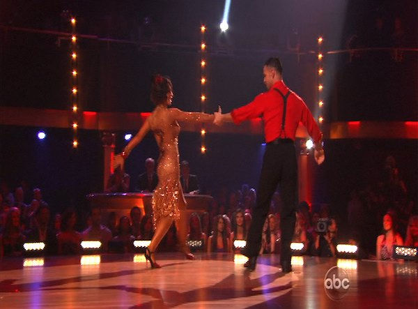 Mike 'The Situation' Sorrentino and Karina Smirnoff perform on 'Dancing With the Stars,' Monday, Oct. 11, 2010. The judges gave the couple 28 points out of 60.