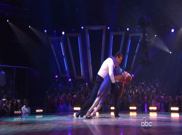 Kurt Warner and Anna Trebunskaya perform on &#39;Dancing With the Stars,&#39; Monday, Oct. 11, 2010. The judges gave the couple 34 points out of 60. <span class=meta>(KABC Photo)</span>