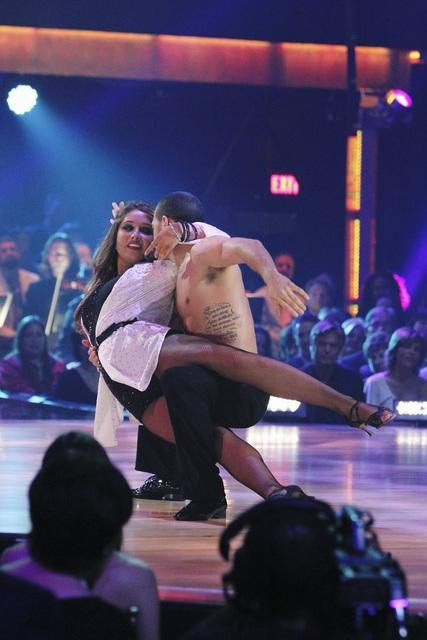 "<div class=""meta image-caption""><div class=""origin-logo origin-image ""><span></span></div><span class=""caption-text"">Bristol Palin and Mark Ballas perform on 'Dancing With the Stars,' Monday, Oct. 11, 2010. The judges gave the couple 32 points out of 60. (ABC/Adam Larkey)</span></div>"
