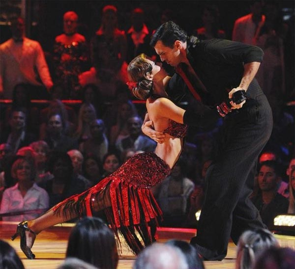 "<div class=""meta image-caption""><div class=""origin-logo origin-image ""><span></span></div><span class=""caption-text"">Audrina Patridge and Tony Dovolani perform on 'Dancing With the Stars,' Monday, Oct. 11, 2010. The judges gave the couple 46 points out of 60. (ABC/Adam Larkey)</span></div>"