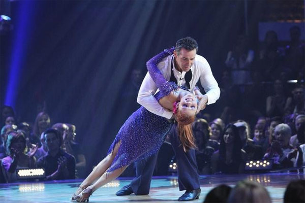 Kurt Warner and Anna Trebunskaya perform on 'Dancing With the Stars,' Monday, Oct. 11, 2010. The judges gave the couple 34 points out of 60.