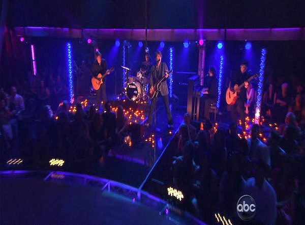 The Goo Goo Dolls perform on 'Dancing With the Stars: The Results Show,' Tuesday, Oct. 12, 2010.