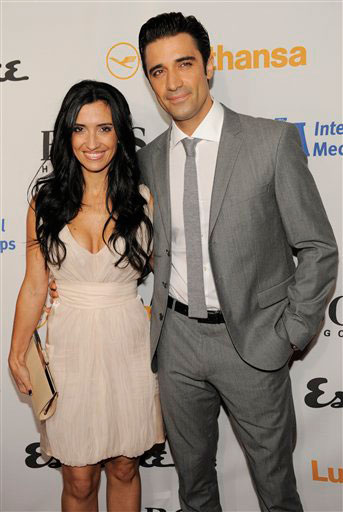 Gilles Marini and his wife Carol arrive at the...