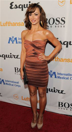 Karina Smirnoff arrives at the Esquire House LA Opening Night Event and International Medical Corps Benefit in Beverly Hills, Calif., Friday, Oct. 15, 2010.