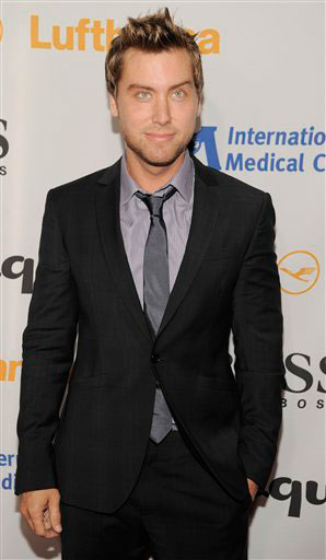 Lance Bass arrives at the Esquire House LA...