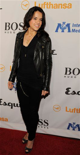 "<div class=""meta ""><span class=""caption-text "">Michelle Rodriguez arrives at the Esquire House LA Opening Night Event and International Medical Corps Benefit in Beverly Hills, Calif., Friday, Oct. 15, 2010. (AP Photo/Chris Pizzello)</span></div>"
