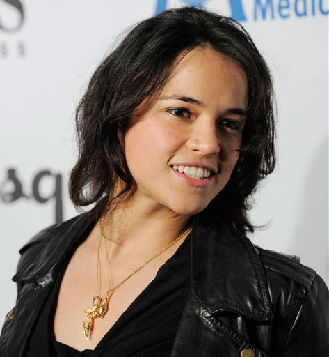 Michelle Rodriguez arrives at the Esquire House...