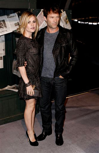 Anna Paquin, left, and husband Stephen Moyer...