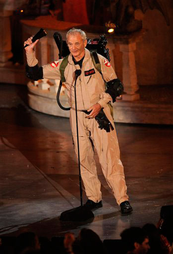 Actor Bill Murray accepts the best horror movie award for &#39;Zombieland&#39; at the Scream Awards on Saturday Oct. 16, 2010, in Los Angeles. <span class=meta>(AP Photo&#47;Chris Pizzello)</span>