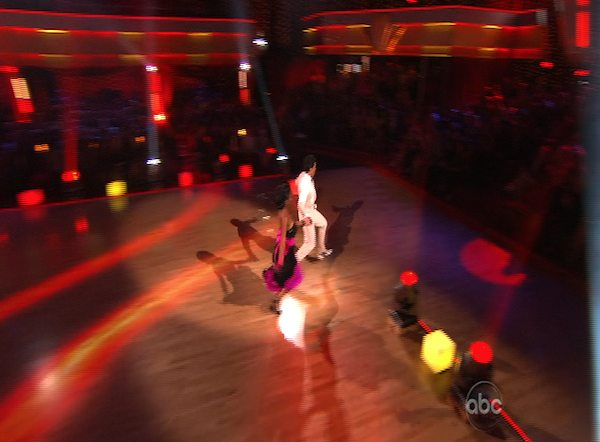 "<div class=""meta ""><span class=""caption-text "">Brandy and Maksim Chmerkovskiy perform to the 'Friends' theme on 'Dancing With the Stars,' Monday, Oct. 18, 2010. The judges gave the couple 27 points out of 30. (KABC Photo)</span></div>"
