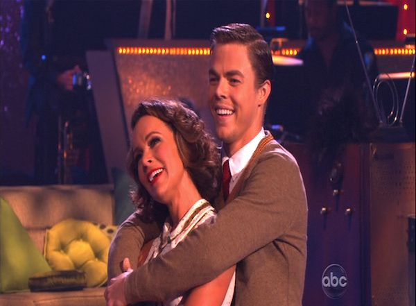 Jennifer Grey and Derek Hough perform to the &#39;Married...With Children&#39; theme on &#39;Dancing With the Stars,&#39; Monday, Oct. 18, 2010. The judges gave the couple 25 points out of 30. <span class=meta>(KABC Photo)</span>