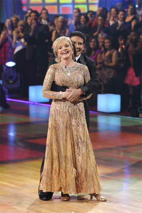 Florence Henderson and Corky Ballas perform to &#39;The Brady Bunch&#39; theme on &#39;Dancing With the Stars,&#39; Monday, Oct. 18, 2010. The judges gave the couple 21 points out of 30. <span class=meta>(ABC Photo&#47;Adam Larkey)</span>