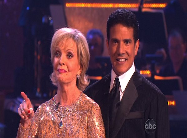 "<div class=""meta ""><span class=""caption-text "">Florence Henderson and Corky Ballas perform to the 'Brady Bunch' theme on 'Dancing With the Stars,' Monday, Oct. 18, 2010. The judges gave the couple 21 points out of 30. (KABC Photo)</span></div>"