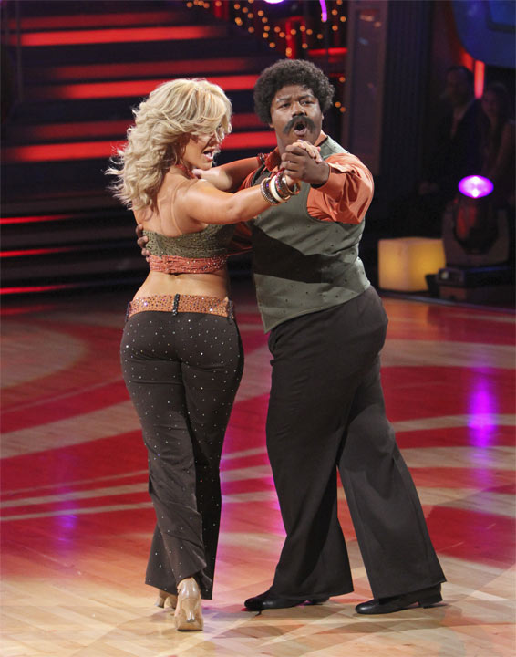 "<div class=""meta image-caption""><div class=""origin-logo origin-image ""><span></span></div><span class=""caption-text"">Kyle Massey and Lacey Schwimmer perform to the 'Charlie's Angels' theme on 'Dancing With the Stars,' Monday, Oct. 18, 2010. The judges gave the couple 20 points out of 30. (ABC Photo/Adam Larkey)</span></div>"