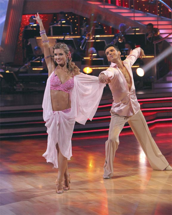 Audrina Patridge and Tony Dovolani perform to the theme song from her former reality show 'The Hills' on 'Dancing With the Stars,' Monday, Oct. 18, 2010. The judges gave the couple 23 points out of 30.