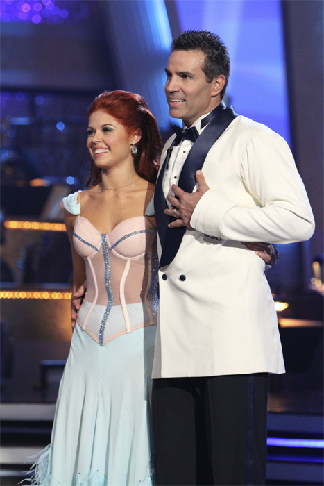 Kurt Warner and Anna Trebunskaya perform to the &#39;Bewitched&#39; theme on &#39;Dancing With the Stars,&#39; Monday, Oct. 18, 2010. The judges gave the couple 24 points out of 30. <span class=meta>(ABC Photo&#47;Adam Larkey)</span>