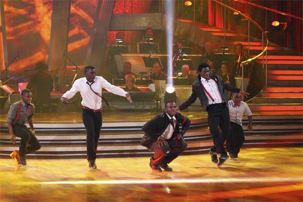 Mwano Family Dance performs on 'Dancing With the Stars: The Results Show,' Tuesday, Oct. 19, 2010.