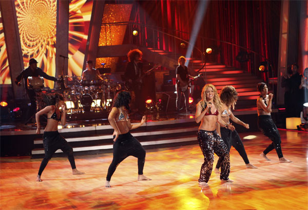 Shakira stopped by and sang her single 'Loca' on 'Dancing With the Stars: The Results Show,' Tuesday, Oct. 19, 2010.