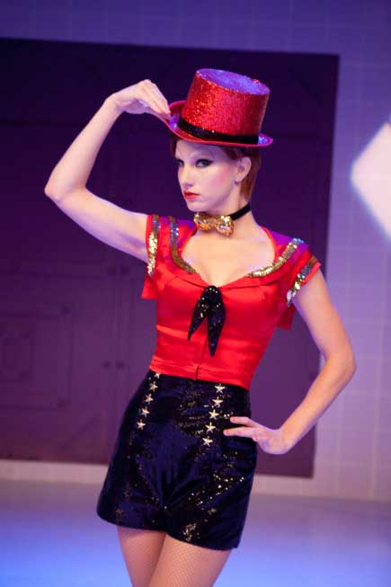 Heather Morris performs in the 'Rocky Horror'...