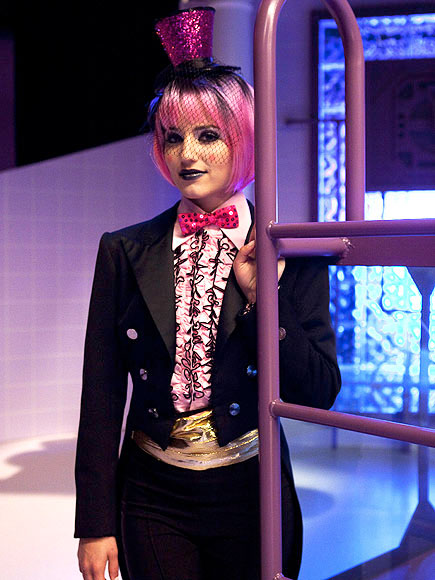 Dianna Agron performs in the 'Rocky Horror'...