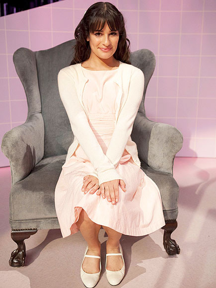 "<div class=""meta ""><span class=""caption-text "">Lea Michele as Janet in the 'Rocky Horror' episode of 'Glee' airing Tuesday, October 26. (Fox/Adam Rose)</span></div>"