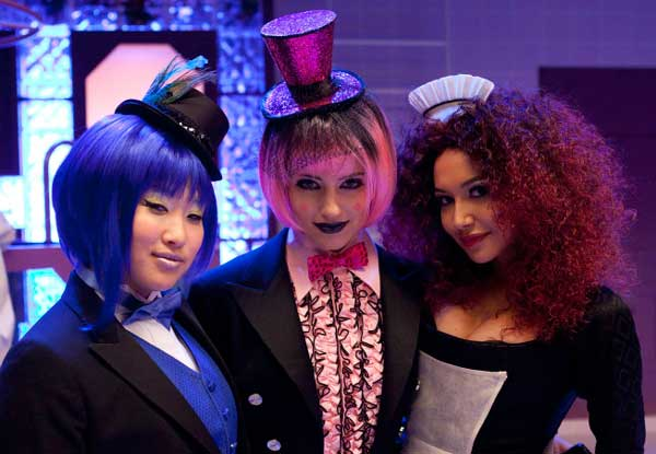 Dianna Agron, Naya Rivera, and Jenna Ushkowitz perform in the &#39;Rocky Horror&#39; episode of &#39;Glee&#39; airing Tuesday, October 26. <span class=meta>(Fox&#47;Adam Rose)</span>