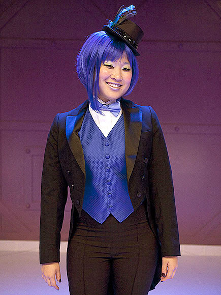 "<div class=""meta ""><span class=""caption-text "">Jenna Ushkowitz performs in the 'Rocky Horror' episode of 'Glee' airing Tuesday, October 26. (Fox/Adam Rose)</span></div>"