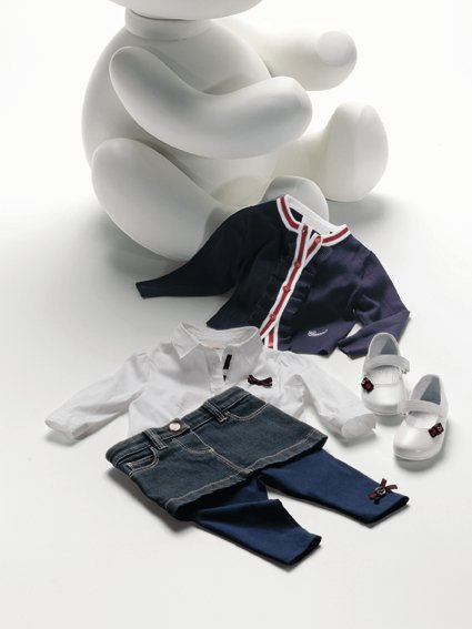 Gucci apparel from the company's Spring/Summer 2011 children's line.